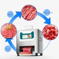Elétrica de Aço inoxidável Moedor de Carne de Corte Vegetal Fatia Fatiador de Máquina Automática para o Bloco de Carne Cortador de Carne