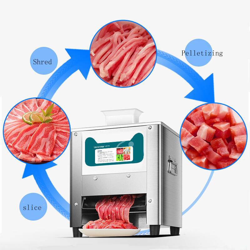 Stainless Steel Electric Meat Vegetable Cutting Grinder Machine Automatic Slicer For Meat Meat Block Cutter  Slice