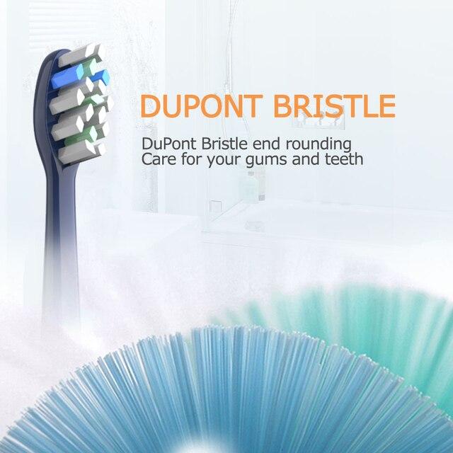 Набор сменных насадок для электрической зубной щетки Mornwell T25, 4 шт.