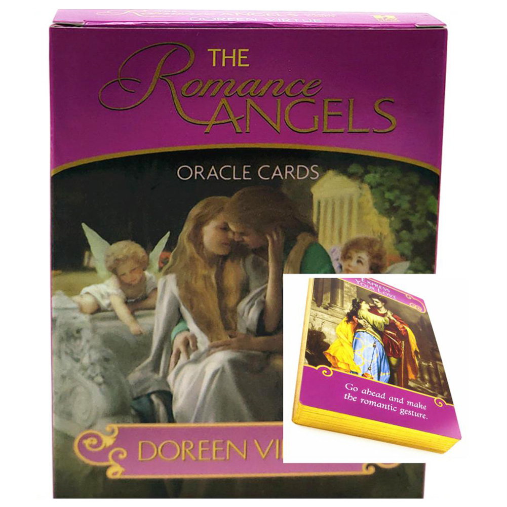 Golden English The Romance Angels Tarot Cards Read Fate Card Game Board Game Cards Deck For Personal Use