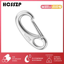 1pcs Marine Egg Eye Shape Spring Snap Stainless Steel Hooks Boat Accessorise Hiking Carabiner Quick Release Dog Bolted Hook