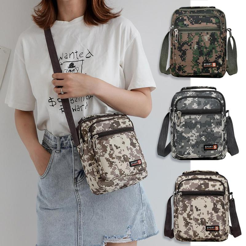 Men Waterproof Nylon Shoulder Crossbody Bag Fashion Camouflage Outdoor SportMessenger Handbag Outdoor Sport Bag Dropshipping