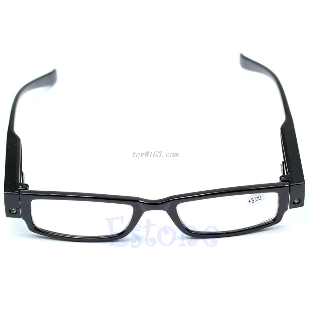 <font><b>1</b></font> PC Multi Strength <font><b>Reading</b></font> <font><b>Glasses</b></font> Eyeglass Spectacle Diopter Magnifier LED Light UP Christmas Gifts #J image