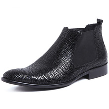 New Arrival Men Black Ankle Boots High Quality Fashion Chelsea Boots Autumn Genuine Leather Casual Dress Boots Shoes genuine leather boots women 2016 new arrival women ankle boots fashion spring autumn womens boots big size 34 41 free shipping