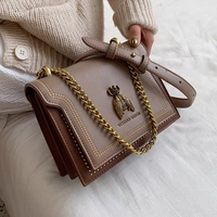 Solid Color Decorative Messenger Bag