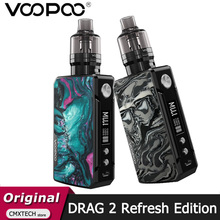 New VOOPOO DRAG 2 Kit Refresh Edition 177W Box MOD Drag 2 Pnp Pod Tank 4.5ml Electronic Cigarette Vape pnp VM5 Pnp Vm6 Vaporizer