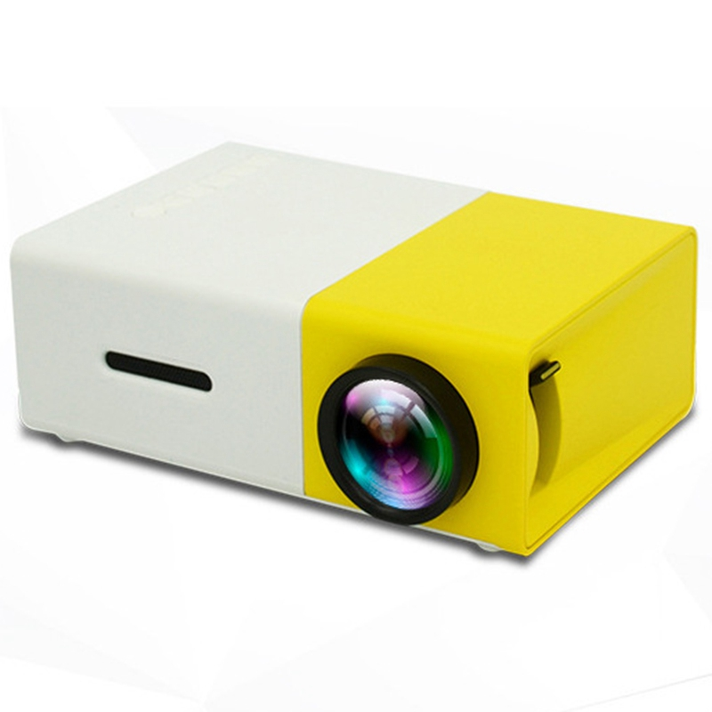 YG300 <font><b>LED</b></font> Projector 600 Audio 320X240 Pixels <font><b>YG</b></font>-<font><b>300</b></font> HDMI USB Projector Home Media Player US Plug image