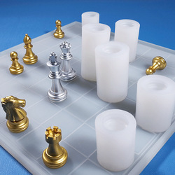 3D UV Epoxy Resin Mold International Chess Resin Mold Epoxy Resin Silicone Mold Crafts for Decoration Making Components DIY