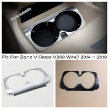 Lapetus Zentrale Front Wasser Tasse Halter Abdeckung Trim ABS Fit Für Mercedes Benz V Klasse V260 W447 2014 - 2018 matt Carbon Look