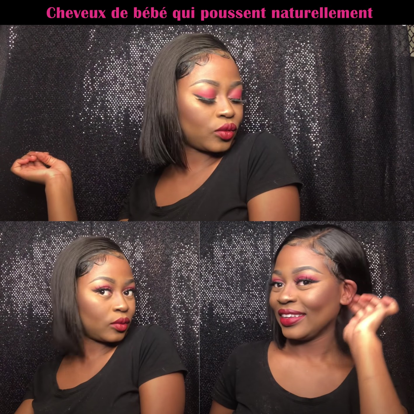 Lace Closue  Wigs Pre Plucked Glueless   Straight 4X4 Lace Frontal Wig with Baby Hair  2