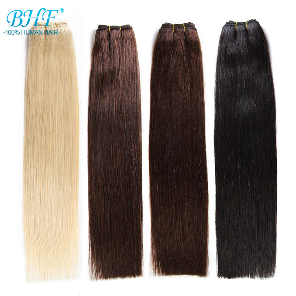 BHF Human Hair Weave Ombre Balayage Weft Hair Extensions Russia Straight Machine Made Remy Natural Human Weft Hair 100g