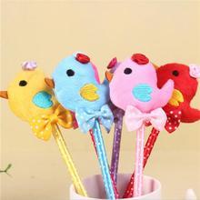 4pcs/lot New colorful bow rabbit design plush ballpoint pen 0.5mm ball fashion students Promotion Gift prize