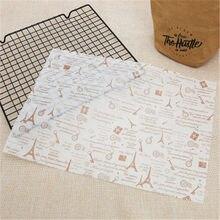 Papel de cozimento do papel da cera da torre do ferro pacotes de alimento do papel de oilpaper pão hambúrguer batatas fritas