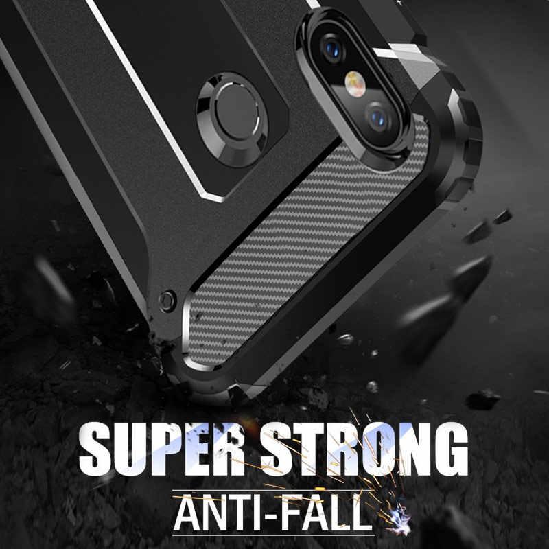 Fundas de teléfono de armadura de lujo a prueba de golpes para Huawei Honor 20 Pro 8X10 Lite cubierta completa para Honor 10i 7c 7a P Smart 2019 funda de silicona