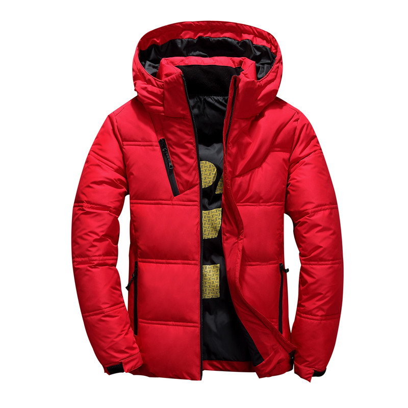 2019 Winter New Mens Jacket High Quality White Duck Down Thick Coat Red Black Pike Jacket Coats  Men's Fashion Warm Coats M-5XL