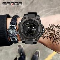 SANDA 739 Sport herren Uhren Top Luxus Military Quarzuhr Männer Wasserdichte S Shock Männlichen Uhr relogio masculino 2021