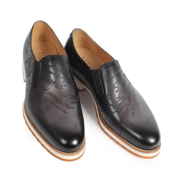 Bright PU Leather Loafers Soft Sole