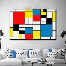 Unframed Abstract Squares Composition Pictures By Piet Cornelies Mondrian Modern Art Printed On Canvas For Wall Decoration