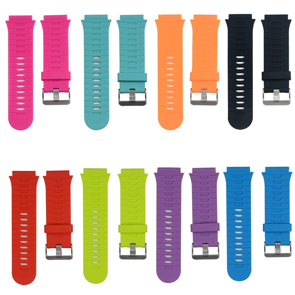 Durable Soft Silicone Strap Watch Band Lugs Adapters For Garmin Forerunner 920XT Adjustable Length Replacement Wrist Watchband image