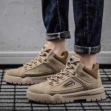 Мужская повседневная обувь; ботинки Осень-зима; уличные Зимние ботильоны; нескользящие ботинки в джентльменском стиле; Zapatos De Hombre N9-35