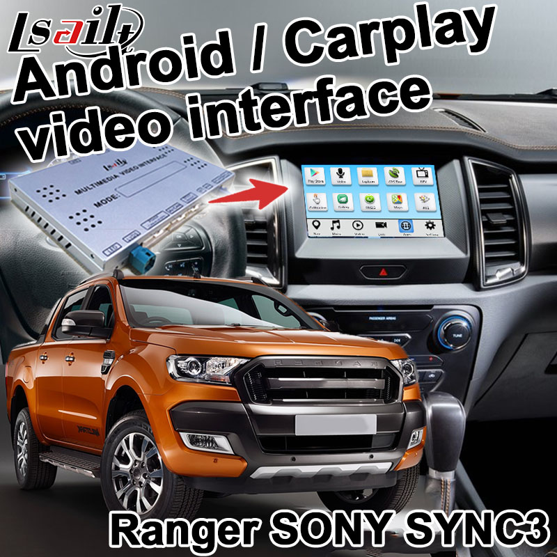 Android / carplay interface box für Ford Ranger Everest F-150 GPS navigation video interface box SYNC 3 spiegel link durch lsailt