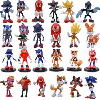 6pcs/set Sonic Figure 4 Styles Boom Rare Dr Eggman Shadow PVC Model Toy Sonic Shadow Tails Characters For Children Gift 5-9cm 6pcs set hot sale sonic figures toy pvc sonic shadow tails characters figure sonic shadow tails characters figure toys