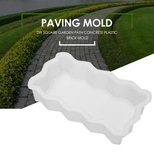 DIY Paving Moulds Reusable Concrete Practical Flat Stone Brick Path Sidewalk Trails Wave Border Mold for Home Garden Building(China)