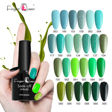 Fingerqueen Plant Green Cyan Color Series Fashion Nail Polish for Women Multi-color Gel Lacquer Shinning UV 7.5ml