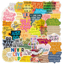 50Pcs Motivatie Zinnen Sticker Inspirational Life Quotes Diy Laptop Studeerkamer Scrapbooking Graffiti Decals Stickers F5