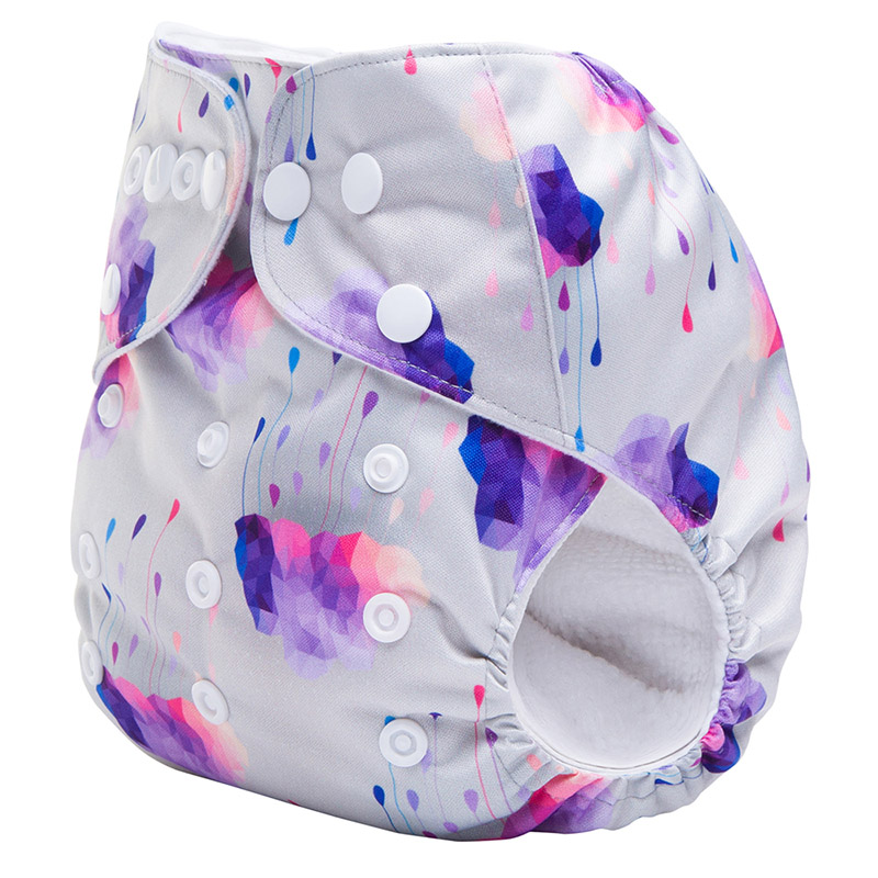 100Pcs/Lot Digital Print Reusable Baby Breath Cloth Diapers With Insert Suit 3-15KG And You Can Choose A Suit