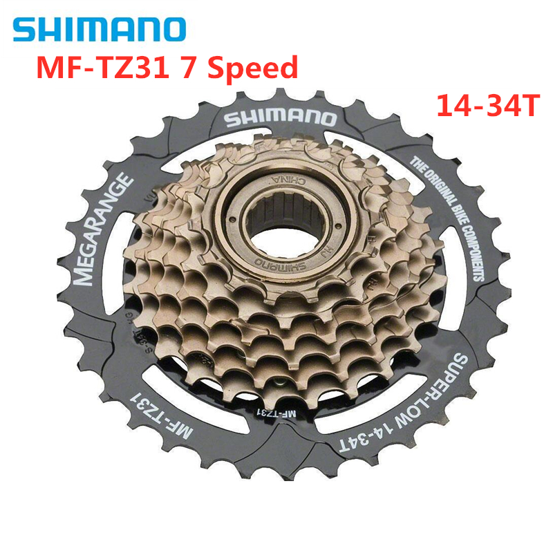 SHIMANO TOURNEY MF-TZ31 TZ31 Cassette 7S MTB Bike Bicycle Freewheel Cassettes 14-34T
