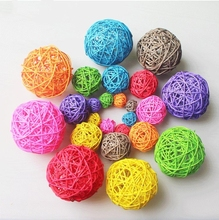 Colorful cane silk ball can be used in home bar, supermarket and market decoration DIY manual material many sizes(diameter)