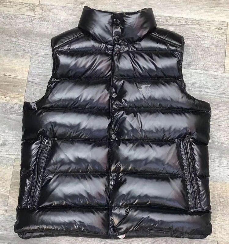 Осень/Зима Мужской пуховый жилет глянцевая/матовая куртка Европейский роскошный такой же стиль размера плюс куртка для пары женский жилет