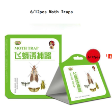6/12pcs Moth Traps To Kill Moths,rice Insects, Moths,Indian Rice Borers Traps Clothes Pantry Food Moths Pheromone Killer