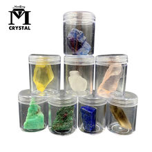 Natural Irregular crystal Mineral Specimen gravel Rock Rose Citrine Fluorite Amethyst Rough quartz Stone Raw Gemstone box(China)
