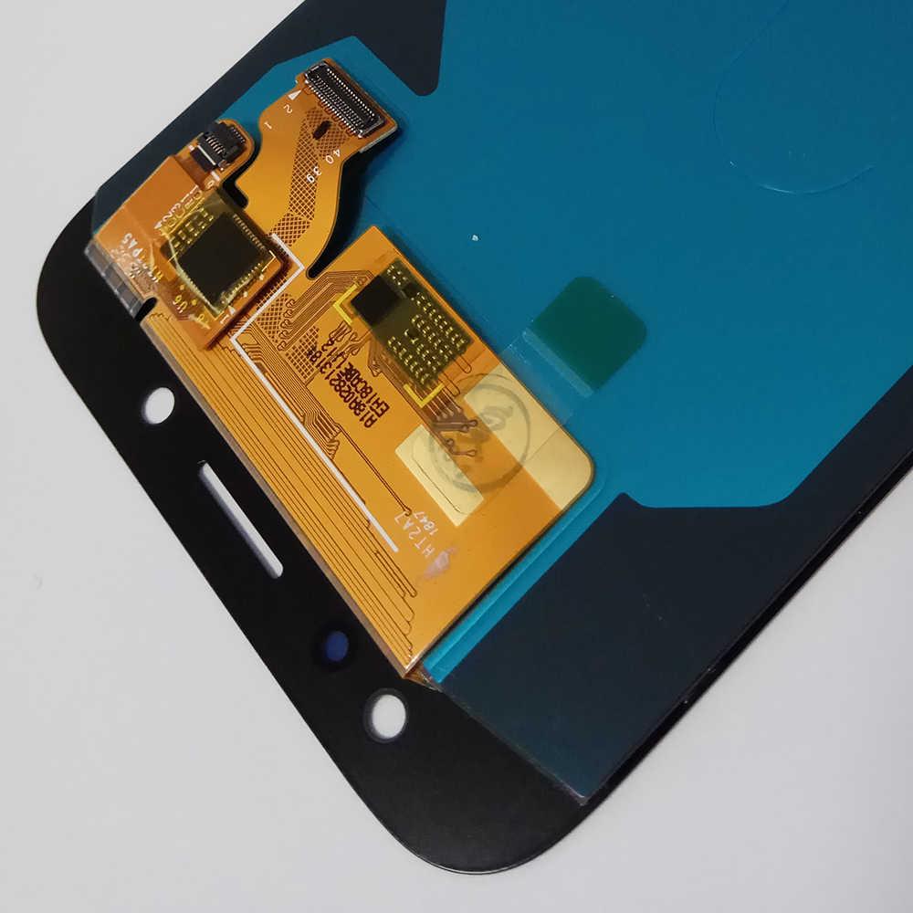 """الأصلي 5.5 """"AMOLED شاشات lcd لسامسونج غالاكسي J7 برو J730 2017 J730F J730G J730GM J730OG عرض مجموعة المحولات الرقمية لشاشة تعمل بلمس"""