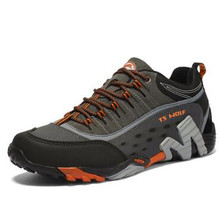 New Men Hiking Shoes Waterproof Hiking Boots Men Genuine Leather Hunting Boots Non-slip Breathable Walking Boots Mountain Shoes men s tactical boots genuine leather men outdoor shoes breathable sneaker mountain hiking shoes men hunting boots