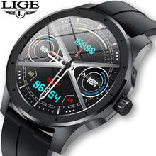 Lige chamada bluetooth relógio inteligente homem ip68 à prova dip68 água suporta leitor de música para android ios telefone gps faixa movimento smartwatch