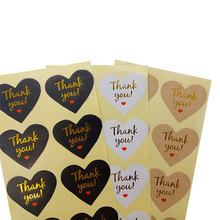 100Pcs/pack new Stamping Thank You  For Gift Label Sticker Scrapbooking DIY Paper Baking Sationary