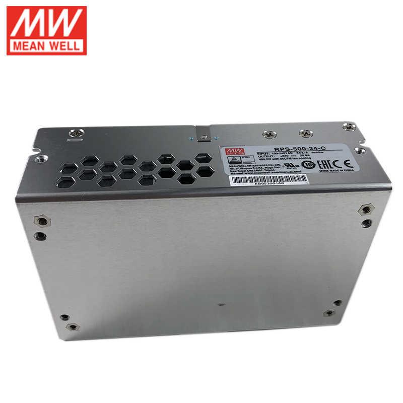 MEAN WELL RPS-500-24-C 20.8A 24V 500W klasy medycznej moc przełączania zasilanie jednostki zasilacza z pokrywą zamknięty typ obudowy