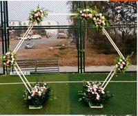 Новый свадебный реквизит Железный фон шестиугольная Арка свадебные цветы