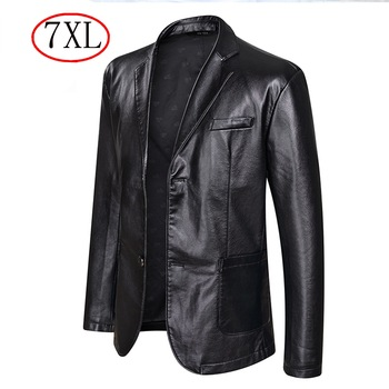 Fall 2021 New Suit Leather Jacket Business Fashion Men's Jacket Men's Slim Fit Leather leather jacket Leather suit for men