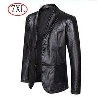 Herbst 2021 Neue Anzug Übergroßen Leder Jacke Business Fashion männer Vegan Jacke männer Slim Fit PU Leder Jacke anzug Für Männer