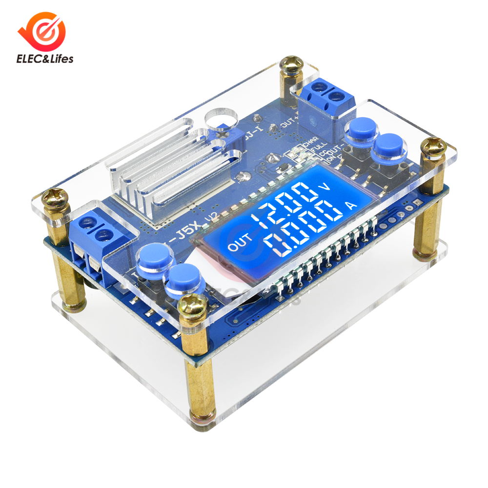 3A 5A Adjustable Step-down Power Supply Module Voltage Current LCD Display Shell