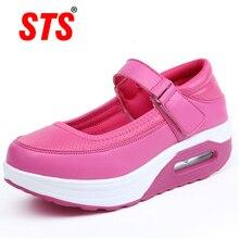 Ladies Shoes Footwear Platform Flats-Sports Nurse Women's Mouth STS Shallow Soft-Bottom