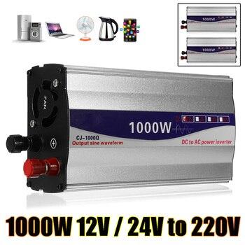 1000W Inverter 12v/ 24v to 220v Voltage Transformer Converter Pure Sine Wave Power Inverter for Car Home