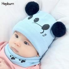 Hepburn Brand Cotton Children Hats Kids Striped Baby Girl/Boy Winter Soft Warm Wool Knitted Beanie Newborn Cap