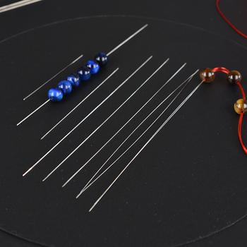 5 sztuk centralne łatwe otwieranie frezowanie igły DIY frezowanie dostaw do tworzenia biżuterii koraliki narzędzia do rękodzieła szpilki na sznurek tanie i dobre opinie 4-7g 12 7cm Central Easy Open 0 02cm Metal STAINLESS STEEL 58 76 102 114 127mm 5 Pcs Lot