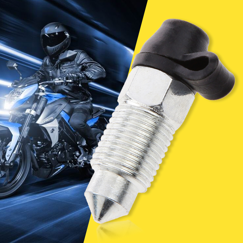 M10x1mm Motorcycle Brake Caliper Screw Stainless Bleed Nipple & Dust Cap For Honda Yamaha Suzuki KTM Etc Motorcycle Accessories-in Caliper & Parts from Automobiles & Motorcycles