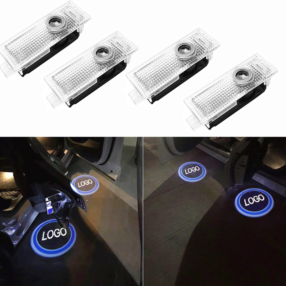 2pcs/4pcs Performance Logo Led Car Door Welcome Light For AUDI Courtesy Lights Projector Laser Lamp Car Styling Shadow Lights